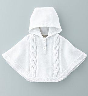 """Tutoriel de tricot """"poncho bébé"""" vintage                              …                                                                                                                                                                                 Plus"""