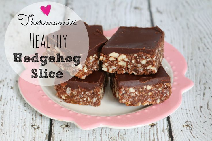 This thermomix healthy hedgehog slice is one of my FAVOURITES. Super easy to whip up (no bake) and it's pretty close to being guilt free in my books :)