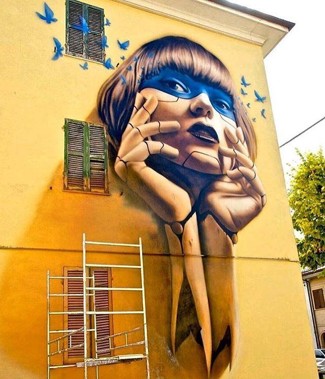 Street art by Setka in Italy