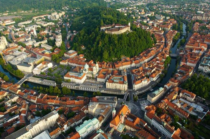 The castle and Old Town from the air. Image by Tomo Jeseničnik / www.slovenia.info    Ljubljana, Slovenia's biggest city (say lyoob-lya-nah – the j's are mostly silent), also happens to be one of Europe's greenest and most liveable capitals. It's conveniently set up for visitors too – most of the city's top attractions are clustered in a compact pedestrianised area around a bend in the pretty Ljubljanica River, perfect for casual wandering.  Read more…