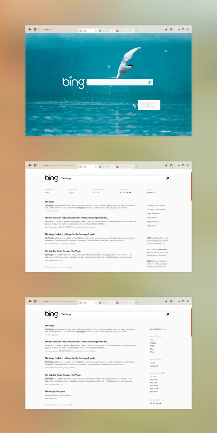 bing full Flat   The New Design Trend for 2013