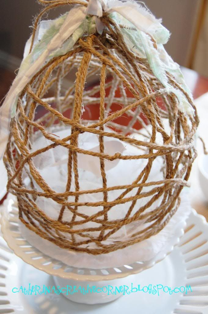 Jute {Easter} Eggs Tutorial - rustic... fabulous... and easy - a different bow or no bow at all, it could be used as a decorative piece all year.