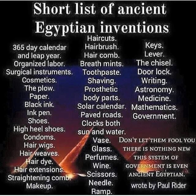 Listing of ancient Egyptian inventions Paved roads ? Seriously? Okay, good to know