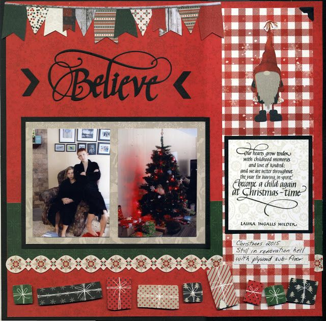 Our Hearts Grow Tender Christmas Scrapbook Layout