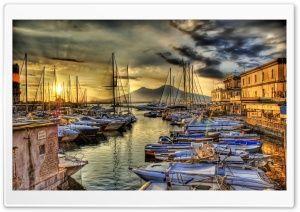 Sunrise In The Naples Docks