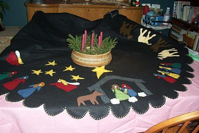 Nativity Tree skirt from wool