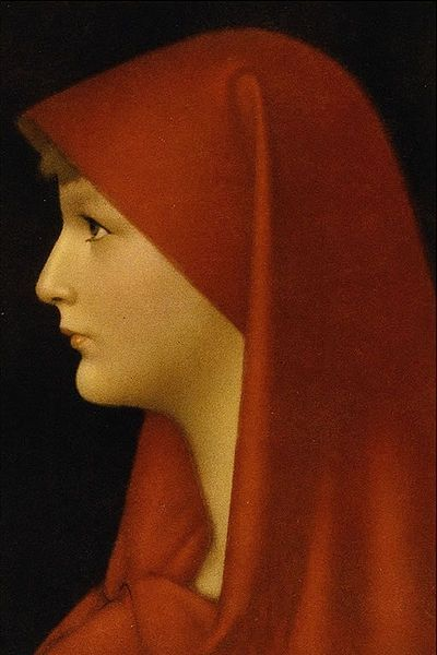 St Fabiola by Jean-Jacques Henner (1829-1905), French painter, noted for his use of sfumato and chiaroscuro in painting nudes, religious subjects, and portraits (wiki - artstack)