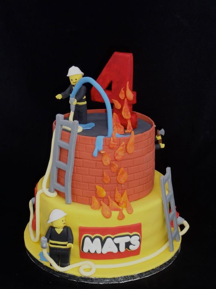 Lego brandweer taart / fireman cake