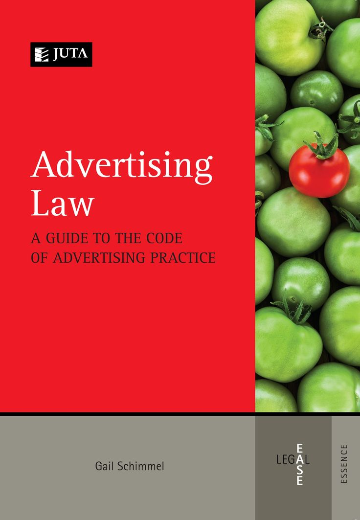 Advertising Law: A Guide to the Code of Advertising Practice is a practical guide to the Code and the practices of the Advertising Standards Authority (ASA).  Published by Juta Law