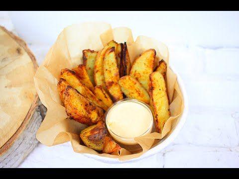 (1) Картофель по деревенски с Сырным соусом - YouTube