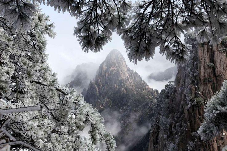 Snow scenery of Huangshan Mountain of Huangshan Mountain in Huangshan City, Anhui Province, China Ap... - News Agency/REX Shutterstock