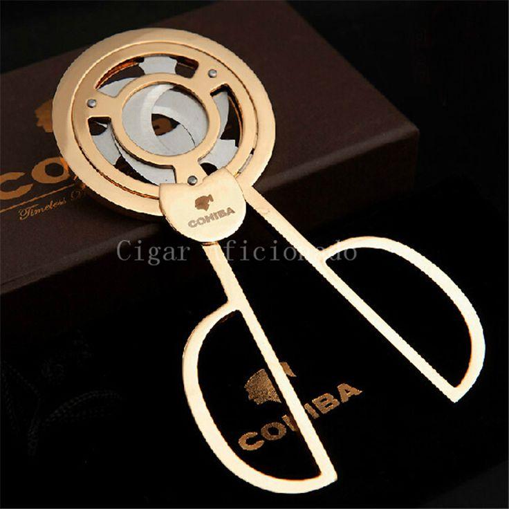 Cohiba гаджеты карманные высокое качество золотой нержавеющей стали тройной нож кубинские сигары резкое для обрезки сигар с хорошим