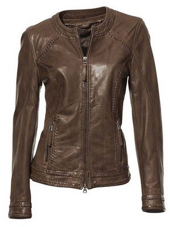 New Women Leather Jacket Genuine Lambskin Designer Biker Ladies Slim S, M, L,XLN #LeatherTrend #Motorcycle