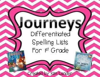 Journeys Differentiated Spelling Lists -- color coded!! Four different levels, great for a typical first grade classroom!