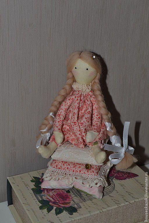 """Купить интерьерная кукла-тильда """"принцесса на горошине"""" - бледно-розовый, кукла в подарок, кукла Тильда"""