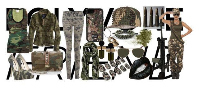 army girl by slytheriner on Polyvore featuring Edith A. Miller, American Eagle Outfitters, Hudson Jeans, Steve Madden, Valentino, Égotique, Rastaclat, OtterBox, Boohoo and G-Star Raw