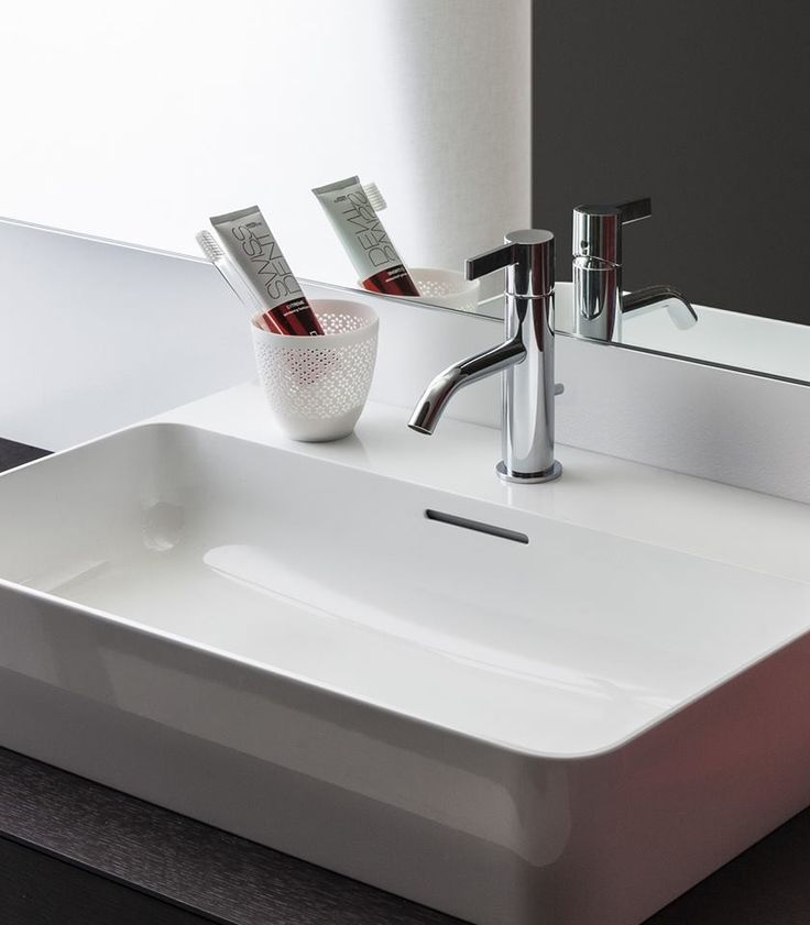 Washbasin_ Collection VAL _ design by Konstantin Grcic _ Faucet Kartell by Laufen _ design by Ludovica+Roberta Palomba