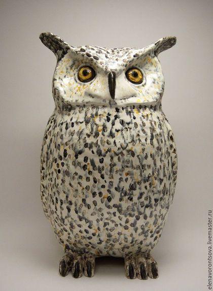 Ceramic owl / Статуэтки ручной работы. Ярмарка Мастеров - ручная работа. Купить Филин. Handmade. Комбинированный, керамика ручной работы, фаянс