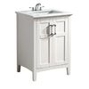 Shop Simpli Home Winston White (Common: 24-in x 21.5-in) Undermount Single Sink Birch Bathroom Vanity with Engineered Stone Top (Actual: 25-in x 21.5-in) at Lowes.com