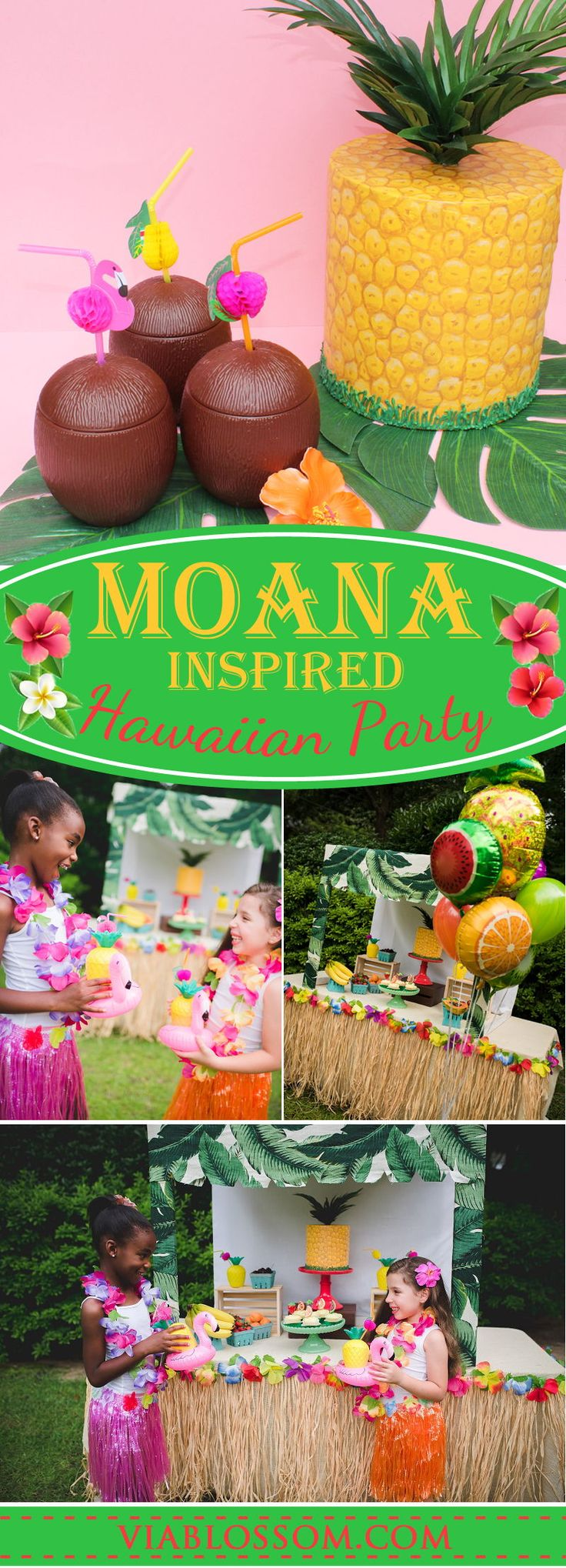 Fabulous Moana Party Ideas for a tropical birthday party!  All the Luau party decorations you will need for a wonderful summer party!