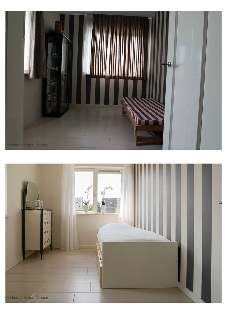 Voor en na verkoopstyling logeerkamer Meteren