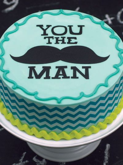 You the Man mustache cake
