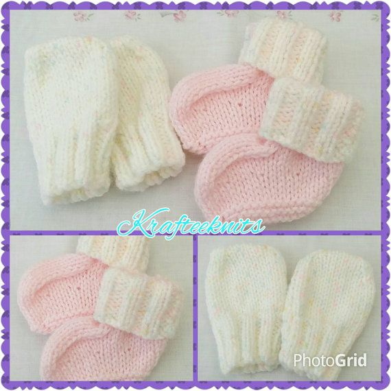 Check out this item in my Etsy shop https://www.etsy.com/uk/listing/252469044/pink-mittens-bootees-0-3mths-size-babies