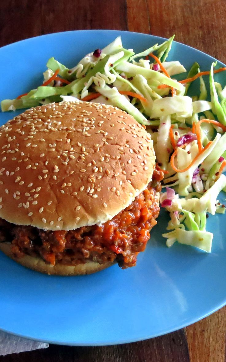 Skinny Sloppy Joes with Tangy Slaw (pressure cooker ...