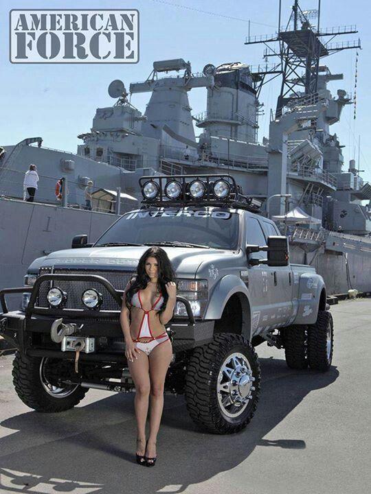 Battle ships trucks and girls Haha shweeet