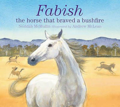 This is the true story of a brave horse called Fabish. In his racing days, he always tried his hardest. And when he retired, Fabish took care of the flighty young horses...One hot summer day, a wild wind blew up and the yearlings were restless. Then Fabish smelled smoke. Fire was coming, fast. The trainer threw open the gate and said, 'Go now!' Fabish neighed to the young ones and they galloped away. All through the night, the fire raged and the trainer battled to save the racehorses in the…