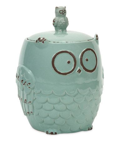 Look at this #zulilyfind! Hoot Owl Cookie Jar #zulilyfinds