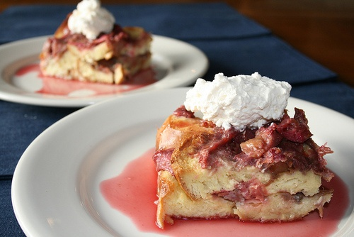 rhubarb and ginger brioche bread pudding | Rhubarb | Pinterest
