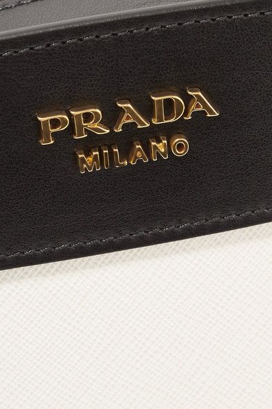 Prada - Esplanade Small Two-tone Leather Shoulder Bag - White - one size