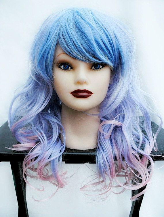 Pastel wig, purple wig, ombre wig, scene wig, cosply wig // Pastel Ombre // Long Wavy Sweet Lolita // PR7