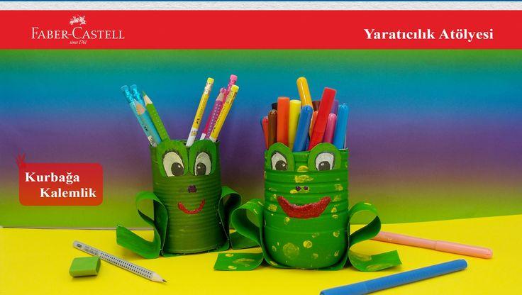Kağıt vs. HobiTV, Faber-Castell, Yaratıcılık Atölyesi, Kurbağa Kalemlik
