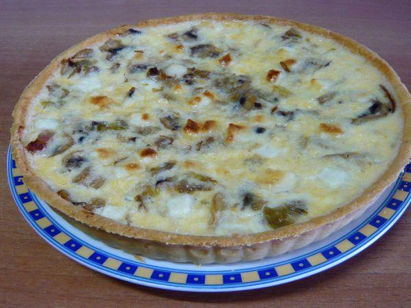 Receta Quiché de champiñones, puerro y bacon, para Willyviajera - Petitchef