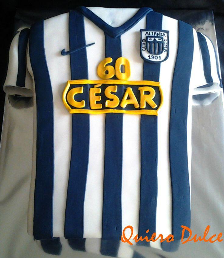 Torta camiseta equipo de fútbol  Alianza Lima