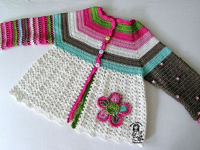 great crochet sweater, free pattern on Ravelry