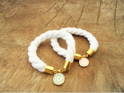 Rope Bracelet with Eye Charm