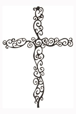 Spiral Wall Cross -   Delicate spirals are reminiscent of vines. Let this cross remind you that Jesus is the True Vine.