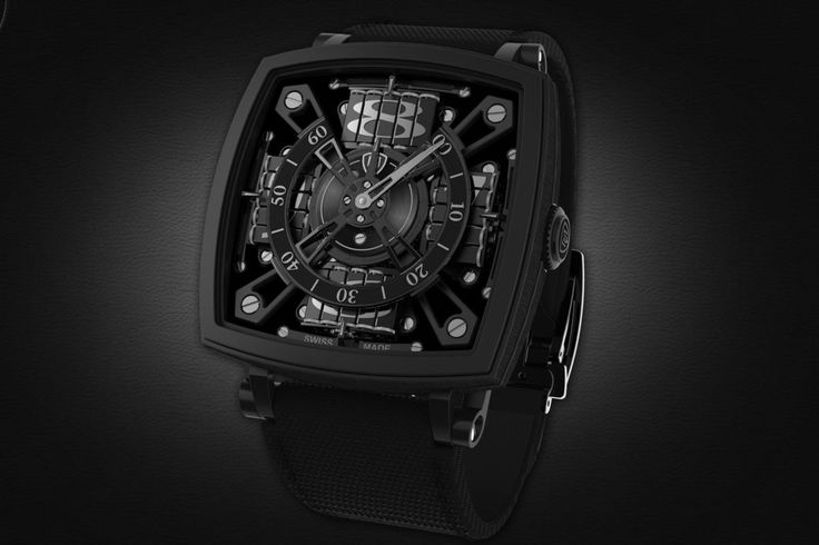 MCT's S-110 Evo Venta Black watch uses Vantablack, touted as the blackest shade of black in the world.