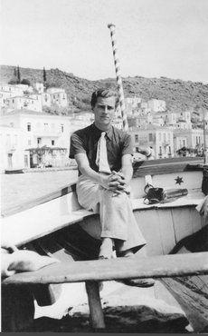 Retrato del viajero y escritor Patrick Leigh Fermor