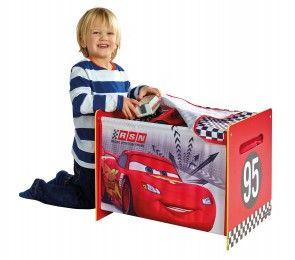 Spielzeugtruhe Motiv Disney´s Cars mit Kind