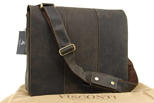 Visconti XL Messenger Bag A4 Plus - Hunter Leather - 16052 - Texas XL - Oil Brown: Amazon.co.uk: Clothing