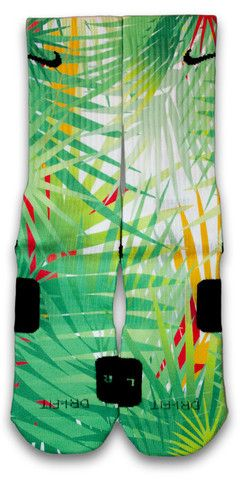 Featuring a classic pattern of palm trees. Available in Nike Elite or CES customs.