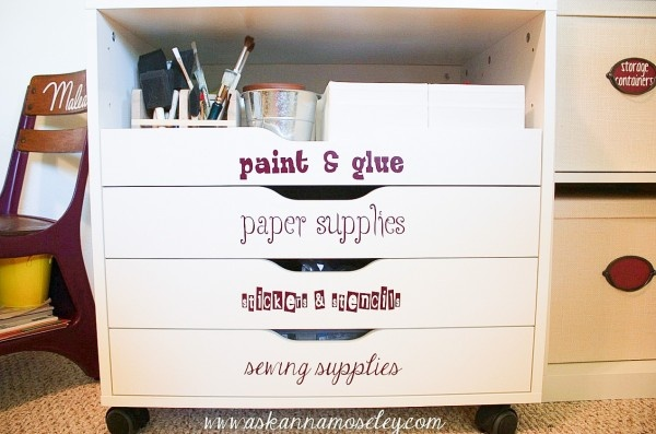 Office organization tips - Ask Anna: Labels Drawers, Organizations Revolutions, Tops Drawers, Organizations Ideas, Crafts Rooms, Cleaners Organizations, Offices Organizations Tips, Crafts Supplies, Revolutions Prizes