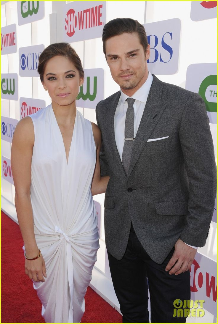 Kristin Kreuk and Jay-Ryan.    Jay Ryan is a TV Actor and is from New Zealand.