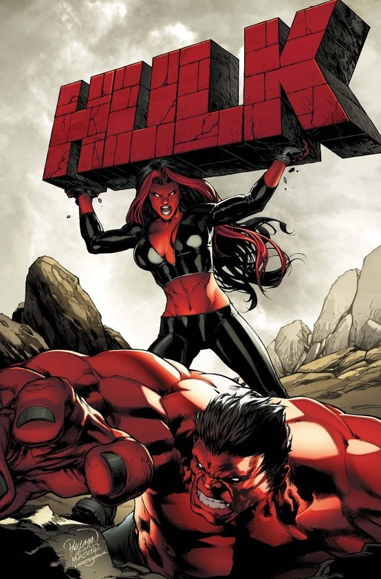 Red Hulks/in other words, she's on the rag and my hulk should run