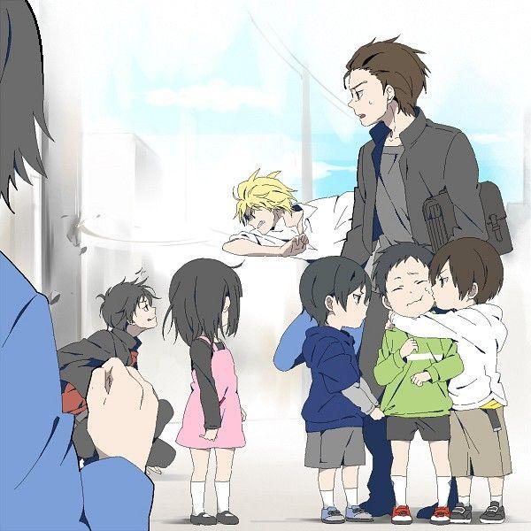 Fighting  Little Girl  Durarara    Orihara Izaya  Kida MasaomiDurarara Shinra Fanart