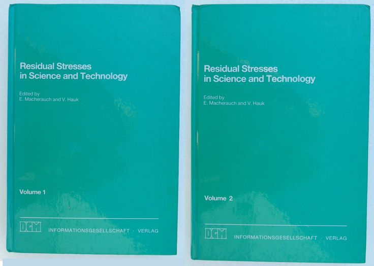 Residual Stresses in Science and Technology Vol. 1   2